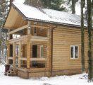 Дом из оцилиндрованного бревна 220 мм.